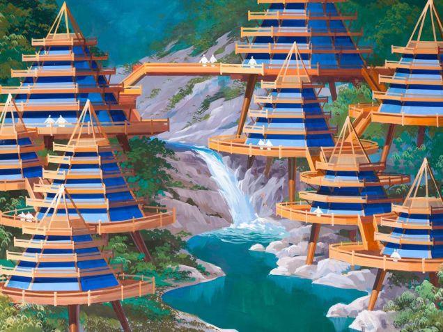 Как архитекторы Северной Кореи представляют города будущего