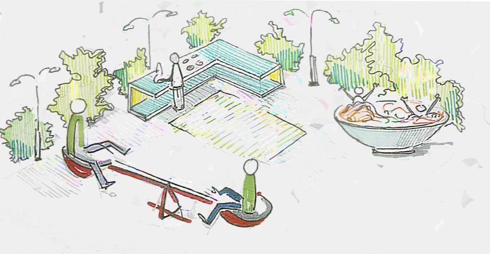 Архитекторы предлагают построить на Лубянке детскую площадку