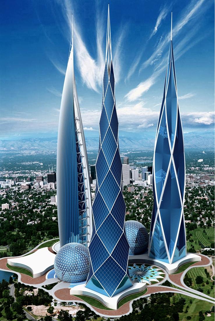 Концептуальные небоскребы архитектора Андрея Коротича