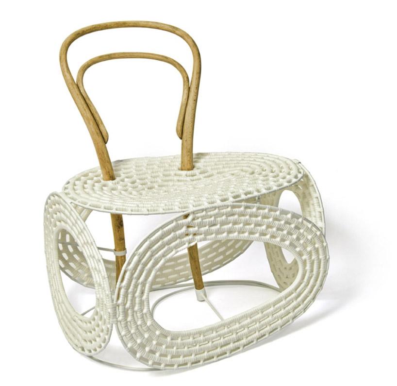 Креативный дизайн: кресла из картона, мрамора и пластиковых прутьев