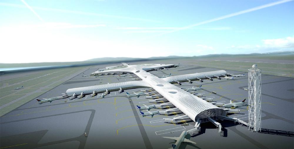 Китайский аэропорт поразит пассажиров своим дизайном