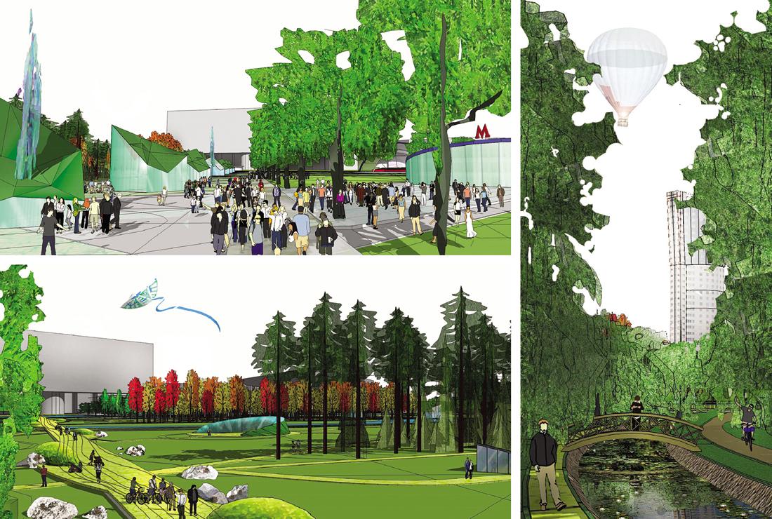 Как будет выглядеть парк на Ходынском поле. Фото