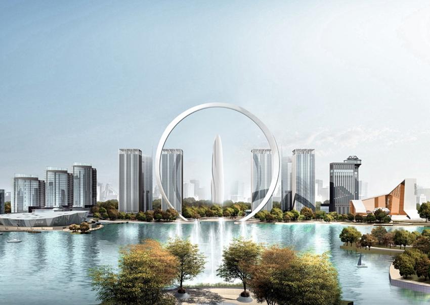В Китае построят небоскреб в форме розы