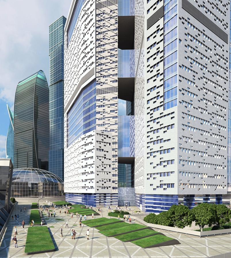 В Москве-Сити построят небоскребы с фасадами из натурального камня