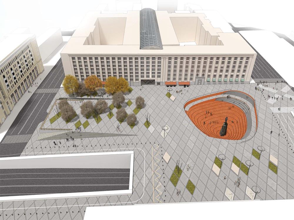 Как будет выглядеть Триумфальная площадь после реконструкции