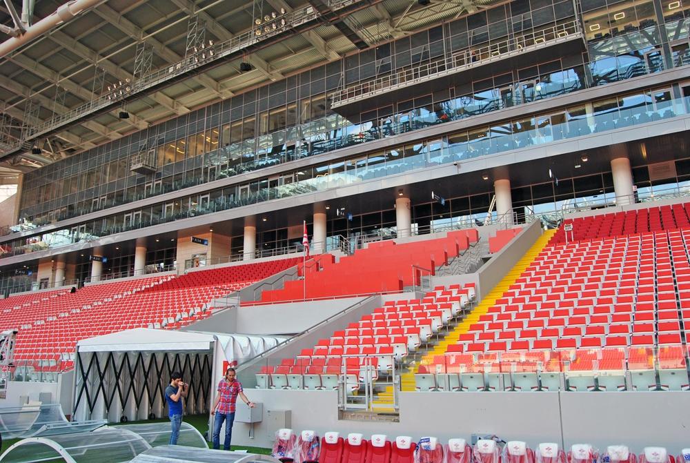 Внутри нового стадиона московского Спартака . Фото