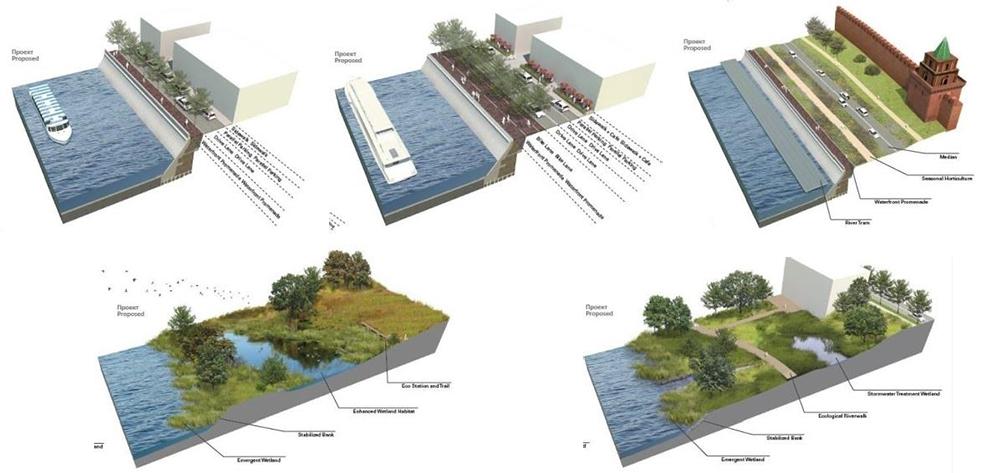 Финалисты архитектурного конкурса: 6 вариантов для набережных Москвы-реки