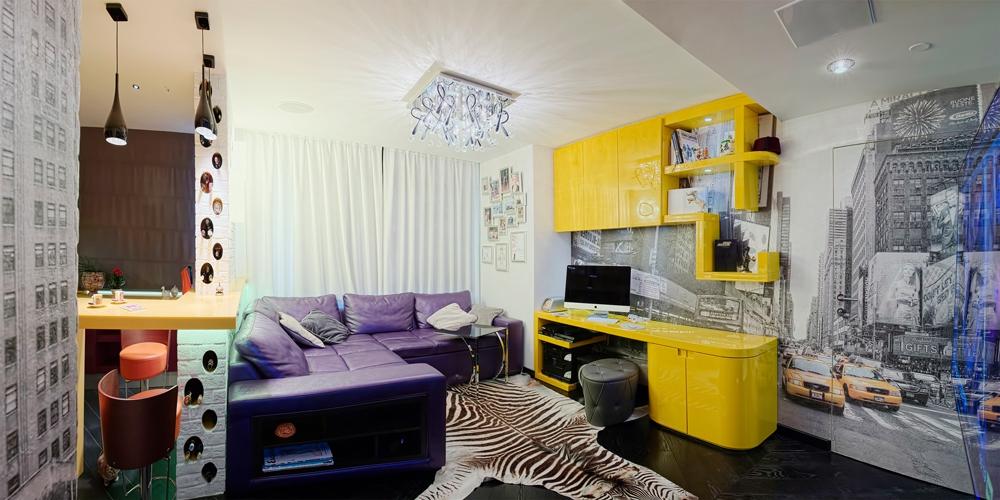 Яркий китч: квартира c wow-эффектом